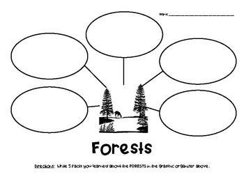 Forests Nonfiction Facts Graphic Organizer