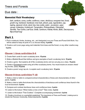 Forests and Trees Unit Assessment Project