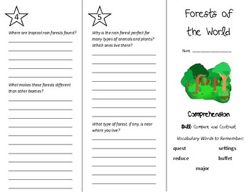 Forests of the World Trifold - Treasures 5th Grade Unit 1 Week 3 (2009)