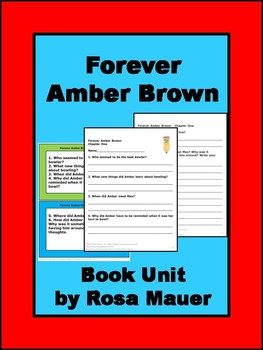 Forever Amber Brown Book Unit