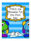 Ice Breaker for back to school forever freebie