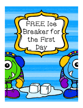 Ice Breaker for back to school forever freebie
