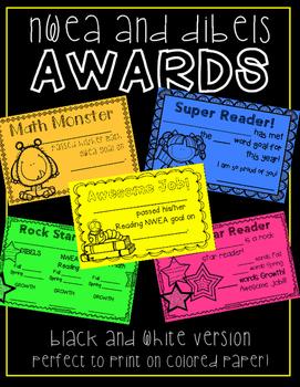 Forever Freebie: NWEA and DIBELS Awards!