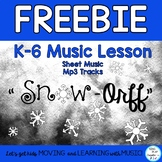 "FREEBIE Winter Music Lesson: ""Snow-Orff"" Body Percussion,"