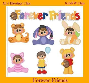 Forever Friends Clipart ~ Hundred Acre Wood Pooh Kids ~ Digital Graphics CU ok