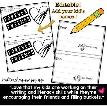 Forever Friends ... Build community . kindness . reading & writing skills!