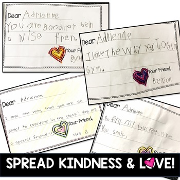 End of the Year ... Build community . kindness . reading & writing skills!