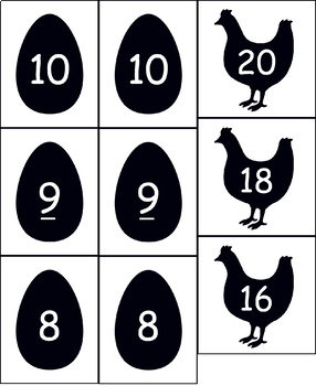 Forgetful Chickens Doubles Addition Game