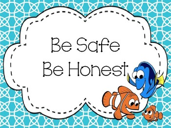 Forgetful Fish Inspired Classroom Rules-Editable