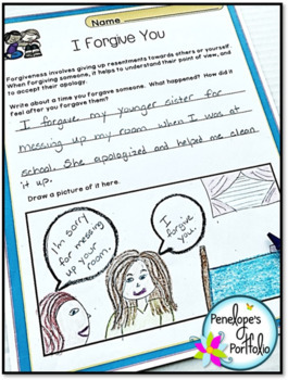 FORGIVENESS Character Education Packet