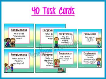 Forgiveness Lesson:  Social Skills Task Cards