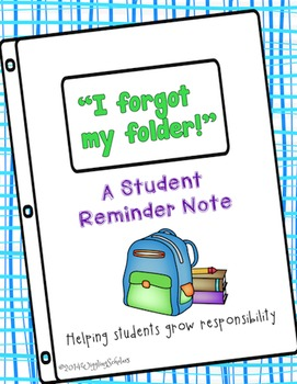 Student Reminder Note