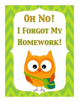 Forgot to do my homework