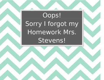 Forgotten Homework Binder Cover Chevron