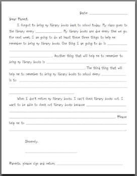 Forgotten Library Books Student Letter