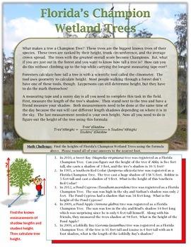 Forida's Champion Trees Using clinometers & Geometry to de