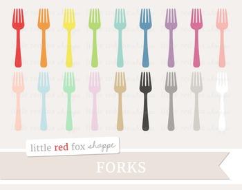Fork Clipart; Kitchen, Silverware, Utensil