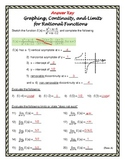 Form A Graphing, Continuity, and Limits with Rational Functions