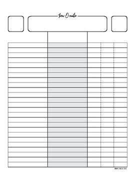 Form-O-Matic (Instant Classroom Form / Checklist)