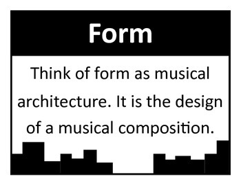 Form Visuals Set for Music Classrooms