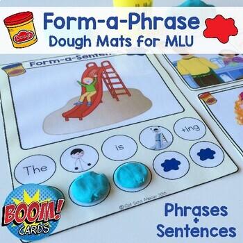 Form-a-Phrase Dough Mats: Practice increasing MLU w/ Phrases + Sentences
