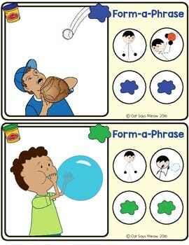 Form-a-Phrase Dough Mats: Practice Forming Phrases + Sentences