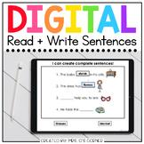 Form a Sentence + Comprehension Digital Basics for Special