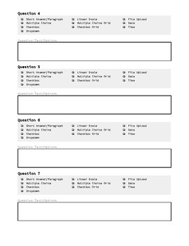 Form to Plan a Google Form