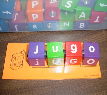 Forma la Palabra - Using Manipulatives