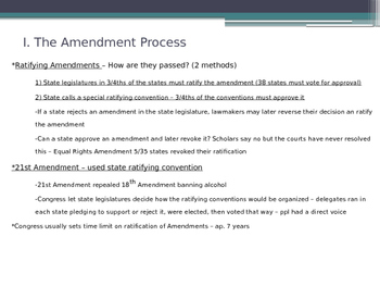 Formal Amendment of Constitution American Government - McGruder Ch 3 Sec 2 & 3