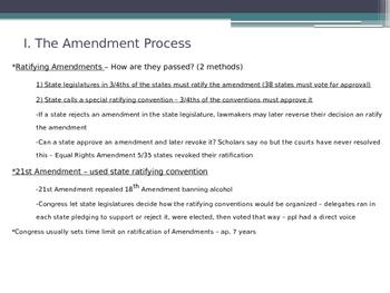 Formal Amendment of Constitution American Government - McGruder Ch 3 Sec 2 & 3