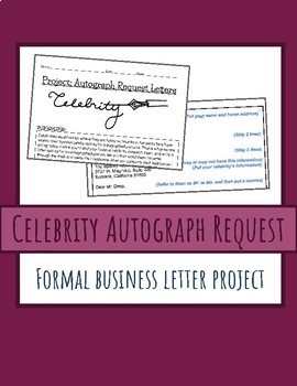 Formal Business Letter Project: Celebrity Autograph Request