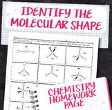 Molecular Shape Practice Chemistry Homework Worksheet