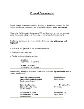 Formal Command Rules