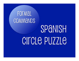 Spanish Formal Commands Circle Puzzle