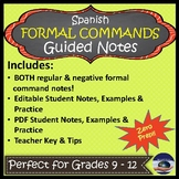 Formal Commands in Spanish (Negative & Affirmative) - Guid