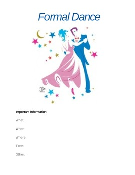 Formal Dance Flyer (poster)