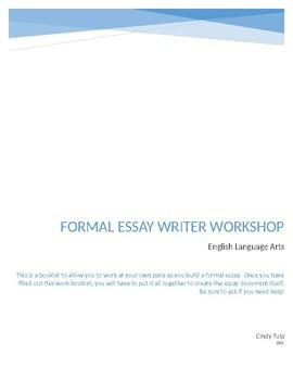 Formal Essay Writer Workshop