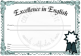 Formal Excellence in English