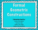 Formal Geometric Constructions 4-Pack