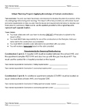 Formal Geometric Constructions Performance Task: Urban Planning