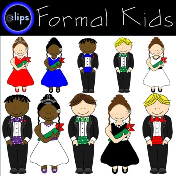 Formal Friends Clipart - Homecoming Court Prom Tiara Bowtie Tuxedo Boys Girls