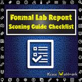 Formal Lab Report Scoring Guide Checklist