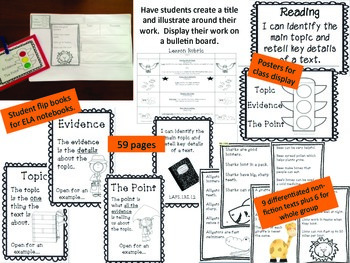 Formal Lesson Observation Main Idea and Key Details