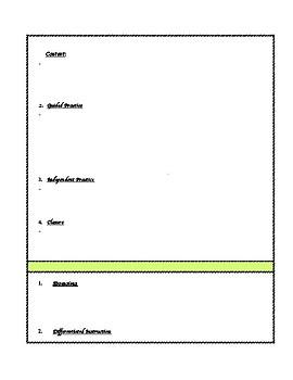Formal Lesson Plan Format