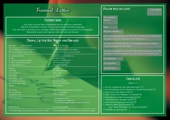 Formal Letter Writing Checklist