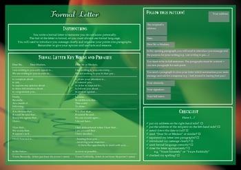 Formal Letter Writing Checklist