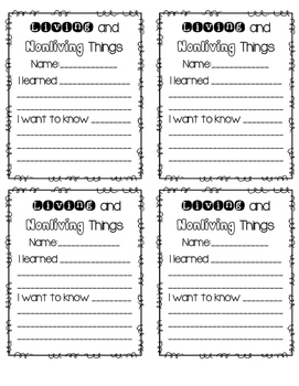 Formal Observation Freebie {Living and Non-Living Things}