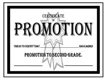 Formal Promotion Awards/Certificates