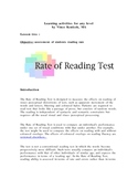 FORMAL READING RATE TEST